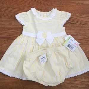 Little Me yellow dress/diaper cover